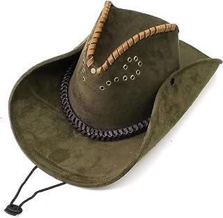 フェルトレザー カウボーイハット スエード調 テンガロンハット ウエスタンハット つば広帽