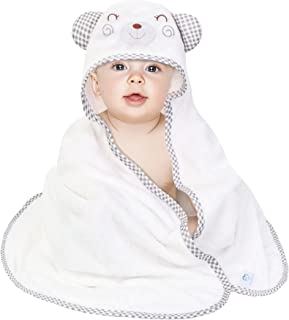 Luxury Bamboo Hooded Baby Towel Ultra Soft Baby Bath Towel Newborn Towel with Hood Absorbent Bath Towels for Infant Toddle...