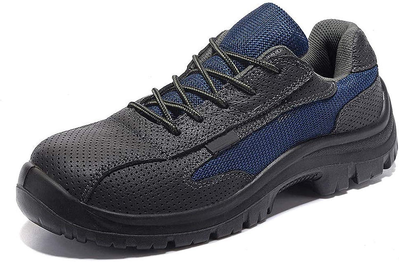 Herren Sicherheitsschuhe, Arbeitsschuhe mit Stahlkappe und Stahlsohle Schutzschuhe Schutzschuhe Schutzschuhe Sportlich Wanderhalbschuhe Hiking Trekking Schuhe Unisex b2a