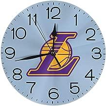 Hi Joker NBA L.A. Lakers 2015 Logo Wall Clocks Desk Shelf Clocks Stylish Oil Painting Clock Quiet Digital Clock Indoor Decorations