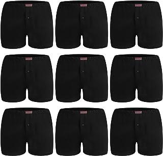 L&K 9 Pack de Calzoncillos para Hombres Ropa Interior Transpirable Algodón 1408