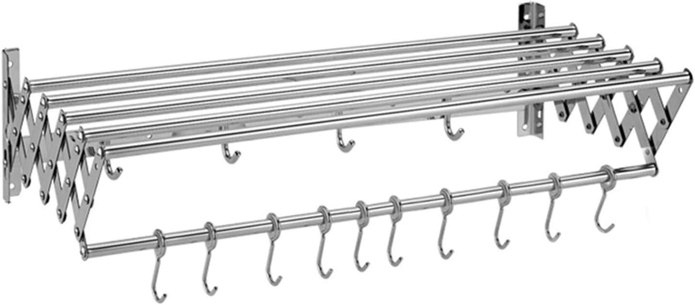 FCHMY Colgador de Ropa Plegable montado en la Pared Perchero para Secado de Ropa Que Ahorra Espacio Estante para Secado de Toallas Ajustable para Interiores y Exteriores Secador de Abrigos retráct