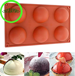 20f# New Silicone Half Ball Sphere Mold Chocolate Cupcake Cake Mold DIY Baking Decorative Cake Mould Tool