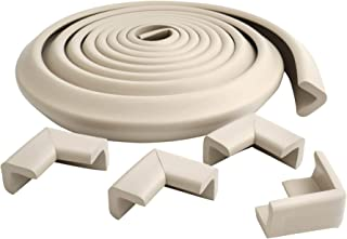 Prince Lionheart Cushiony Table Edge Guard | Soft & Cushiony Impact Absorbing Foam | 12'/3.65m roll & 4 Corners | Edge & C...