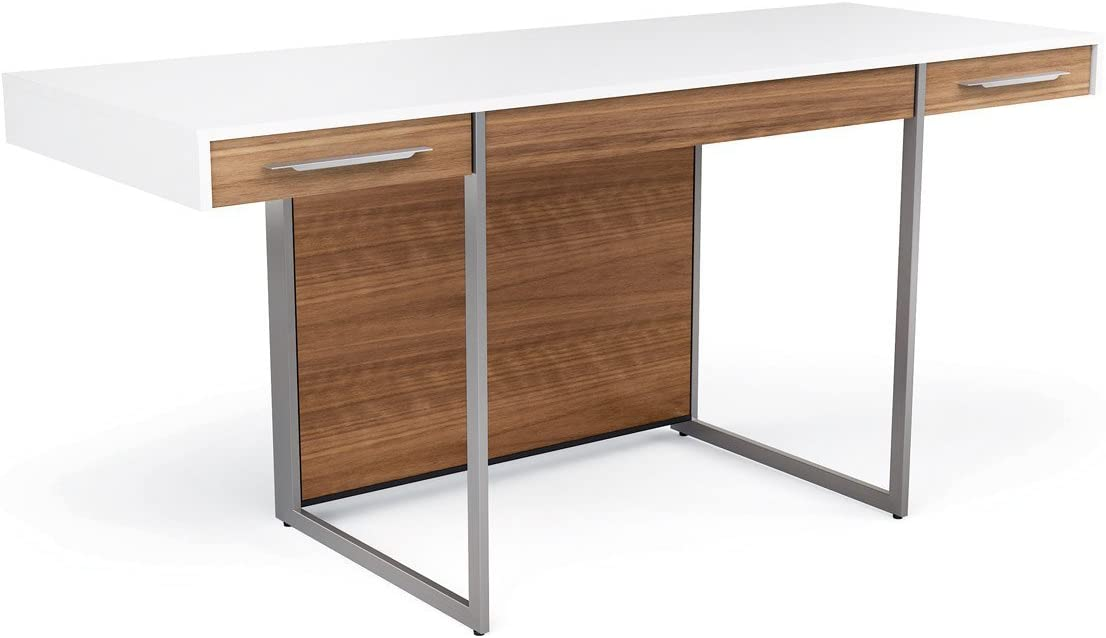 BDI Format Our shop Recommended most popular Office Desk White Walnut Natural