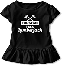 Trust Me I Am A Lumberjack Shirt Comfort Toddler Flounced T Shirts Graphic Tees for 2-6T Baby Girls