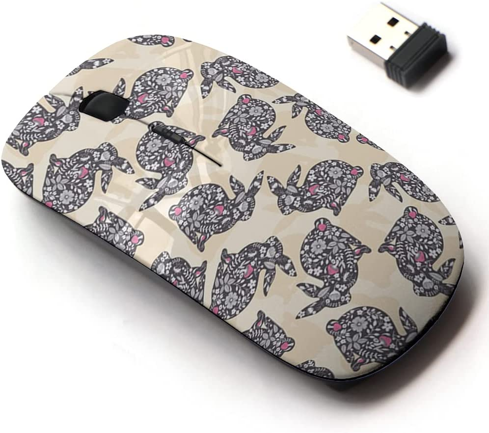 2.4G Wireless Mouse with Cute Pattern Design All Laptops for Bombing Free shipping anywhere in the nation free shipping and