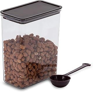 Eervff Pot En Plastique Carré Hermétique Boîte De Poudre De Fruits Café Au Lait Magasin De Thé Seau À Haricots Carré Boîte...