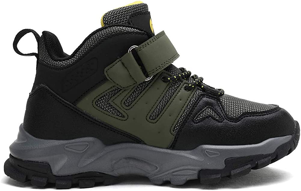 kulebear Kids Hiking Shoes Non Slip Boots Boys Girls Winter Boots Outdoor Warm Shoes Waterproof