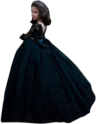 8c74e66df9 SHENLINQIJ Princess Black Girl Dress Lace Kids Pageant Wedding Party Dress
