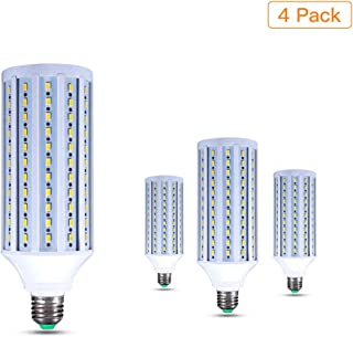 EBD Lighting 40W Corn LED Light Bulbs (300W Equivalent),4-Pack,E26/E27 Base, AC85-265V,Ultra Bright 6000K Cool White for Indoor Outdoor Large Area Garage Factory Warehouse High Bay