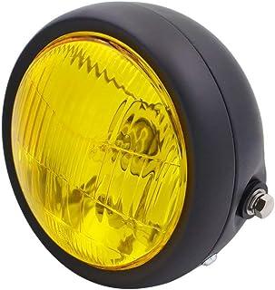 HANEU Faro LED para motocicleta, compatible con Cafe Racer, Bobber y Touring, 16,5 cm