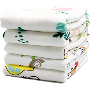 Super Soft Baby Wipes and Cotton Washcloth for Delicate Skin Boys or Girls Multicolored Cotton Face Towels Baby Muslin Washcloths Premium Natural Cotton Face Cloths