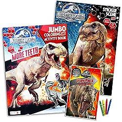 8. Jurassic World Coloring Book Set (3 Books)