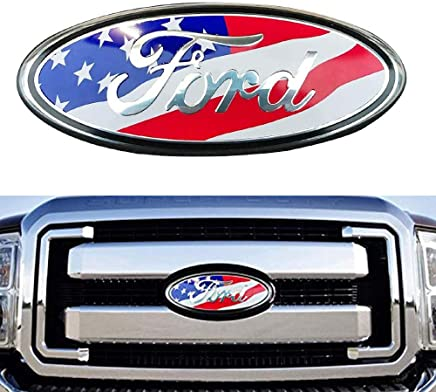 11-14 Edge 06-11 Ranger Oval 9X3.5 11-16 Explorer Black Decal Badge Nameplate Also Fits for 04-14 F250 F350 2004-2014 F150 Front Grille Tailgate Emblem Compatible With Ford