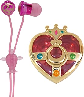 Bandai Sailor Moon Compact Case Packed Earphones Cosmic Heart SLM-21A