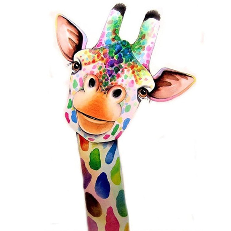 5D Diamond Painting Kit Giraffe DIY Rhinestone Embroidery Cross Stitch Arts Craft for Home Wall Decor 11.8 x 15.8 inch
