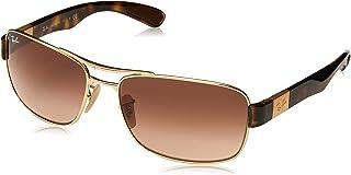 Ray-Ban Men's Rb3522 Metal Square Sunglasses