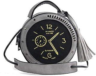 Women Single Clock Messenger Pu Leather Shoulder Bag