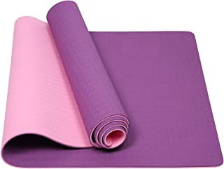 Mersuii Yoga Mat, Eco Friendly Non Slip Fitness Exercise Mat with Carrying Strap for Yoga, Pilates and Floor Exercises - 7...