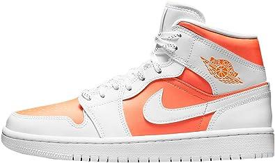Jordan Women's Shoes Nike Air 1 Mid White Snakeskin BQ6472-110