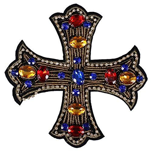 1pieza de corazón de cristal hecho a mano con cuentas brillantes diseño parches coser en insignia apliques accesorios de costura Ropa decorado D