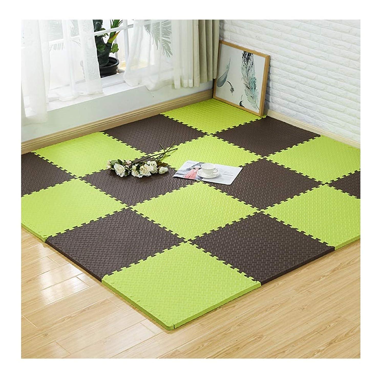 倒錯の間で豊富にWUZMING ジョイントマット連動タイルマルチカラーステッチ屋内床保護マット防水お手入れが簡単環境EVA (Color : B, Size : 30x30x1.2cm-36pcs)