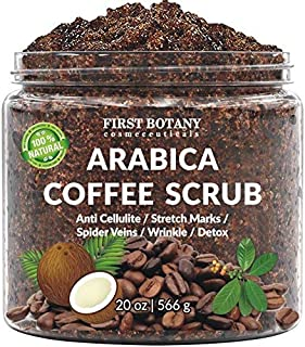 (590ml) - 100% Natural Arabica Coffee Scrub with Organic Coffee, Coconut and Shea Butter - Best Acne, Anti Cellulite and S...