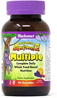 Bluebonnet Nutrition Rainforest Animalz Whole Food Based Multiple Chewable Tablets, Kids Multivitamin & Mineral, Vitamin C...