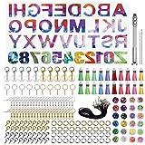 Alphabet Harz Gussform, Buchstaben und Zahlen Resin Silikonform, DIY Epoxidharz Formen für Herstellung Schlüsselkette House Number Ohrringe Halsketten Armbänder