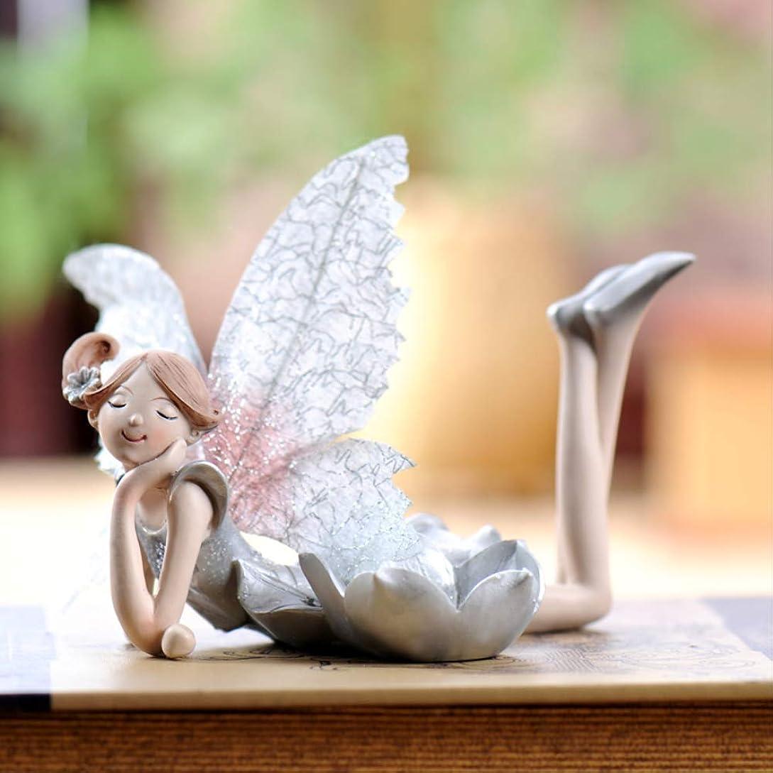 音毎年返還CLJ-LJ 女の子のためのオーナメントギフトホームインテリアアクセント天使置物美しくかわいい花の妖精ジュエリーベストギフト