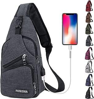 Peicees Travel Gym Bike Sling Bag Shoulder Backpack Daypack w/USB Charging Port