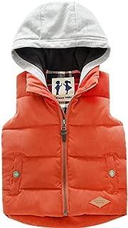 LOSORN ZPY 小男孩冬季保暖背心儿童棉连帽衫加厚夹克