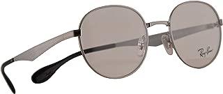 Ray Ban RB 6343 Eyeglasses 47-19-140 Gunmetal w/Demo Clear Lens 2553 RX RX6343 RB6343