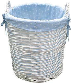 Panier de rangement Paniers de stockage imprimés par points en osier faits à la main, paniers de rangement décoratifs à la...