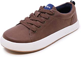 Nautica Kid's Lace-Up Dress Shoe Athletic Casual Sneaker - Youth Donovan Big Kid Little Kid-Brown-2