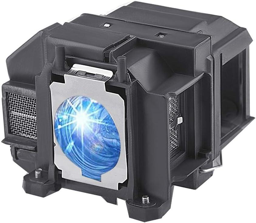 Replacement Lamp for Epson V13H010L67 W12 W16 S11 S12 EX5210 EX7210 EX3210 EX3212 VS210 VS220 X12 PowerLite Home Cinema 500 600 707 710HD 750HD ELPLP67 Replacement Projector Lamp Bulb
