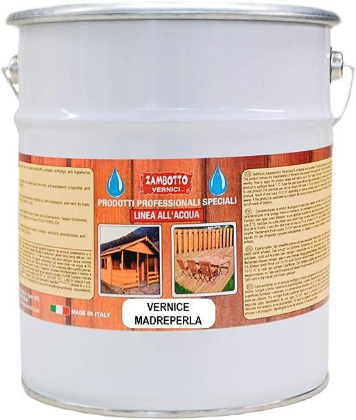 Barniz al agua para madera efecto nacarado brillante de 0,75 ...