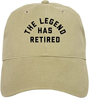 238c8b8c CafePress - The Legend Has Retired - Baseball Cap with Adjustable Closure,  Unique Printed Baseball