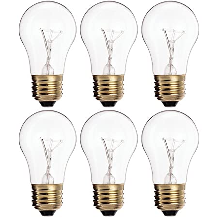 Sterl Lighting Pack of 8 A19 Clear Incandescent Rough Service Bulb 60 Watt E26