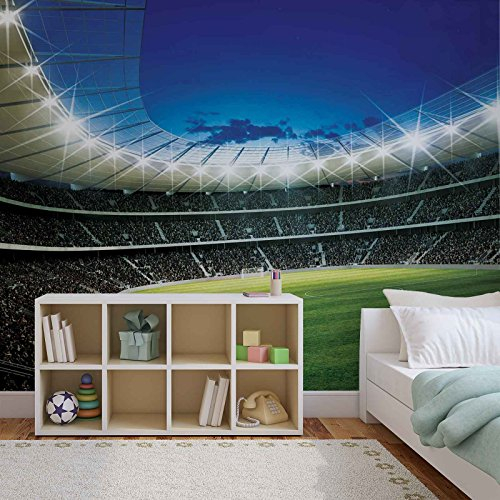 FORWALL Fototapete Tapete Fußball Stadion Kind AF323P4 (254cm x 184cm) Photo Wallpaper Mural