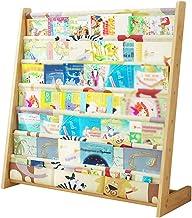 Safe&Care Kids Fun Book Shelf Bookcases Colourful Wooden Rack Book Display Storage Rack Children Bedroom Canvas