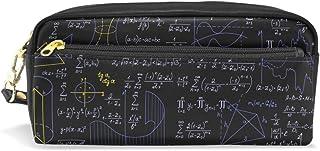 バララ(La Rose) ペンケース ペンポーチ 高校生 男子 女子 おしゃれ かわいい 大容量 PU 革 黒い 数学記号 数式計算式 絵柄 筆入れ 化粧ポーチ 収納 小物入れ 中学生 小学生 シンプル オフィス用