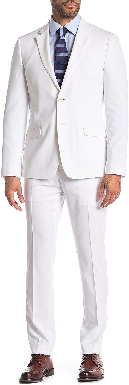 Adam Baker Men's Slim Fit Single Breasted Notch Lapel 2-Piece Suit Set - Colors