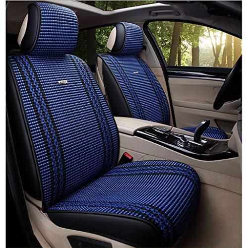 MKJYDM Cojín de protección de cuatro estaciones for funda de asiento de automóvil compatible con airbag delantero y trasero Juego completo de 5 asientos de cuero textil universal Cubierta de asiento d