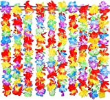 Decoración de Fiesta en la Playa, Collar de Flores Hawaianas, Corona de Playa, Corona de Girasol 10 Piezas de Flores de Loto Hawaianas se Pueden Usar en Vestidos, (Multicolor)