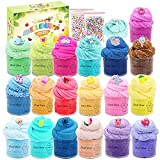 24 Pack Mini can Cloud Slime, Unicorn Cloud Slime,Stretchy and Non-Sticky, Stress Relief Cloud Slime Toy for Girl and Boys