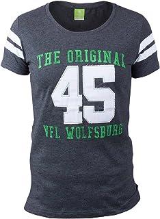 VfL Wolfsburg Kinder T-Shirt Halbzeit 45 The Original Applikation und Druck auf der Vorderseite Größe 116 - 164 116