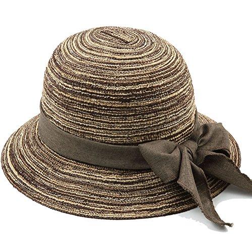 BJL-Sonnenhut Sommer Hut, Sonnenhut Frauen Sommer ältere Menschen Baumwolle Garn Sonnencreme Faltbare atmungsaktiv, 5 Farben optional OYO (Color : 2#)