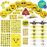 THE TWIDDLERS 288 Emoji Smiley Mitgebsel | Party Geschenktüten | Ballons Bändchen Gummibänder...